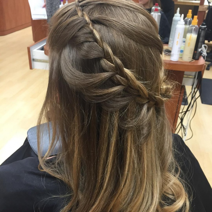 lace loop braid hairstyle