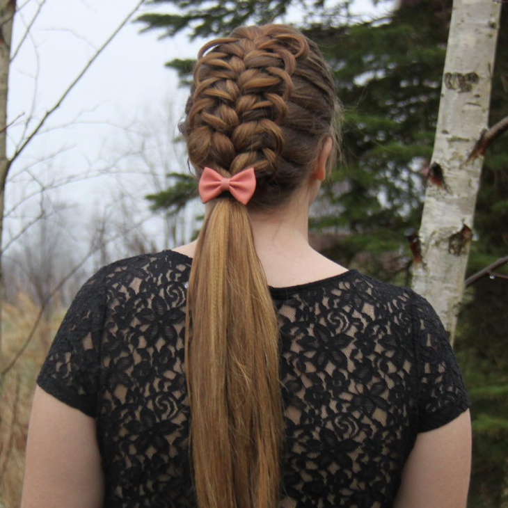 beautiful french loop braid hair