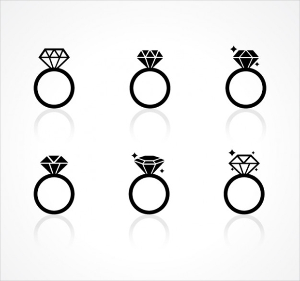 diamond ring icons