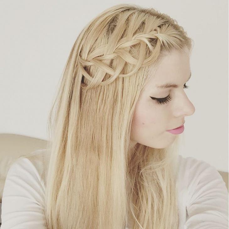 criss cross loop braid hair