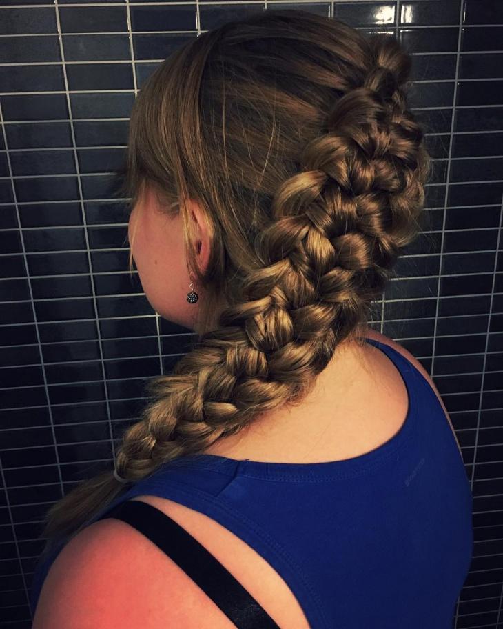 cool loop braid hairdo