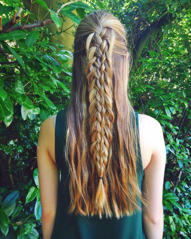 elegant loop braid hairstyle