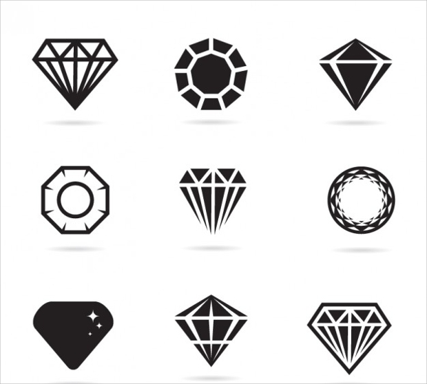 flat jewels icons