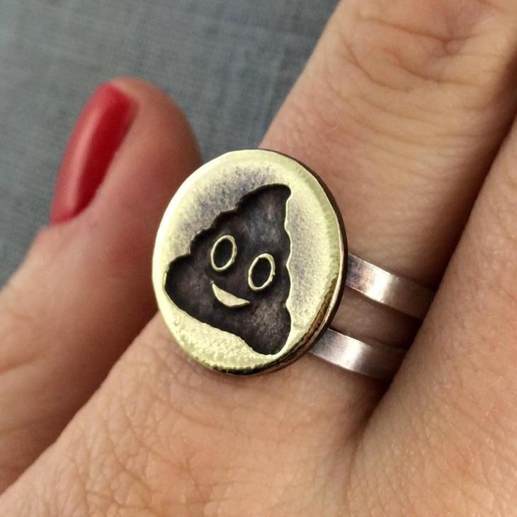 Little Poop Emoji Ring
