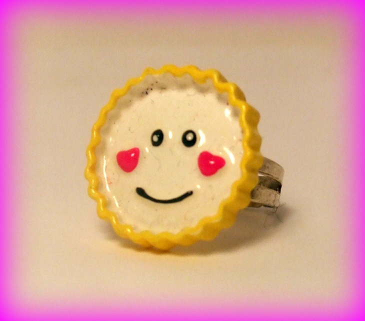 Smiling Emoji Ring Model