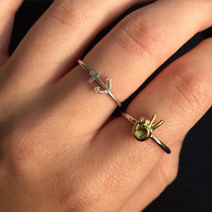 Sterling Silver Emoji Ring