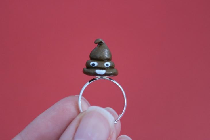 Smiley Poop Ring