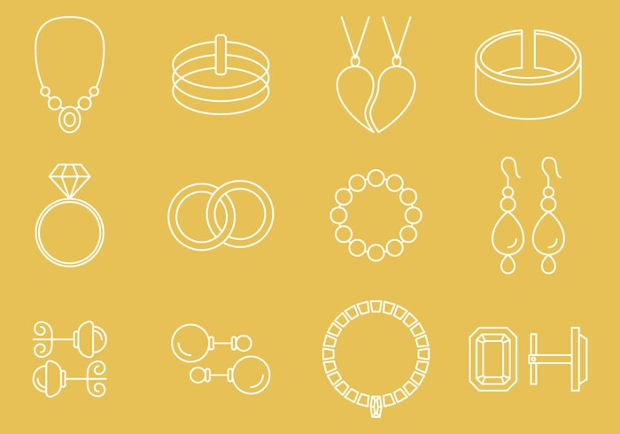 jewelry outline icons
