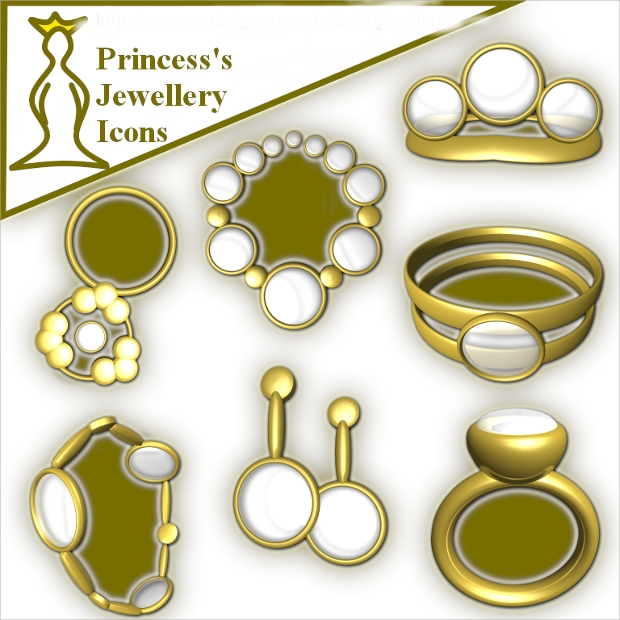 princess jewelry icons