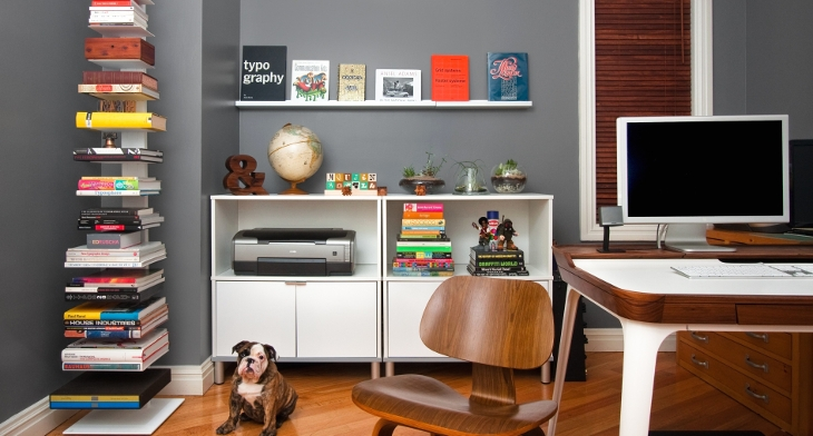 Home Office Bookshelves Designs