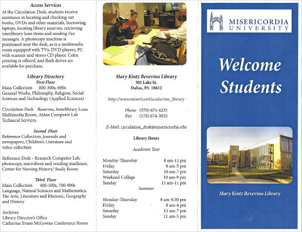 University Library Brochure