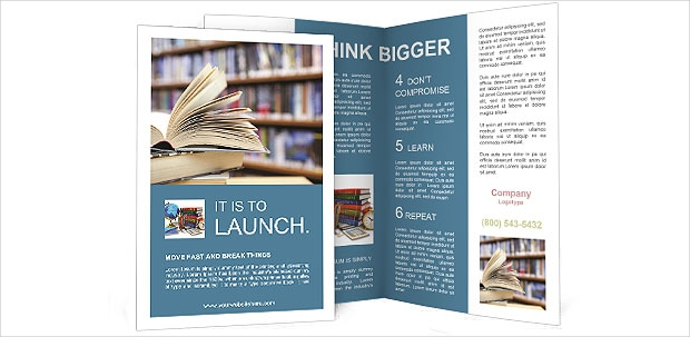 library brochure template1