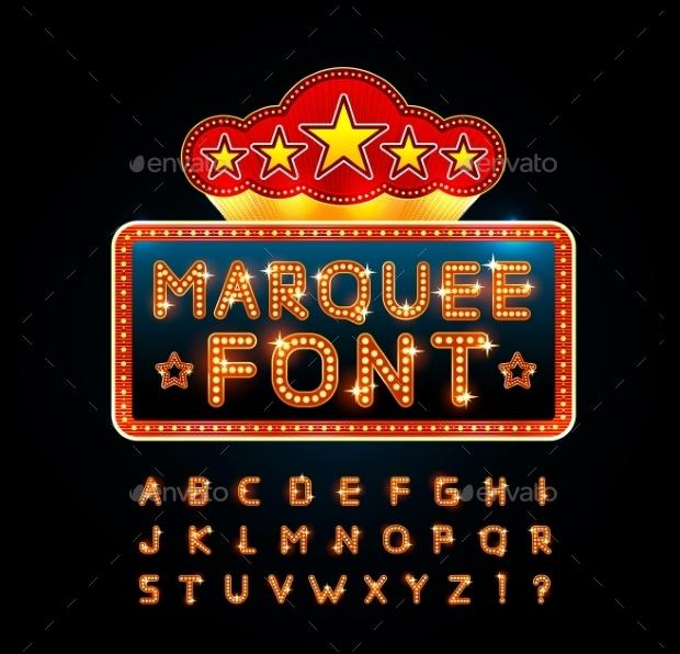 bright retro font