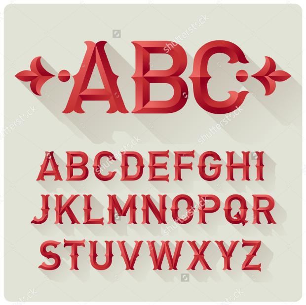 retro vector font