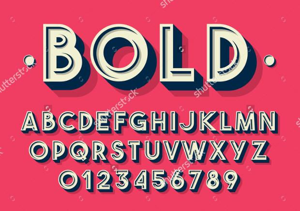 bold retro font