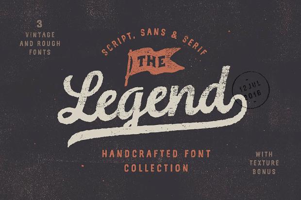 legend vintage retro font