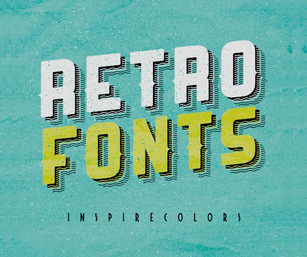 free retro fonts