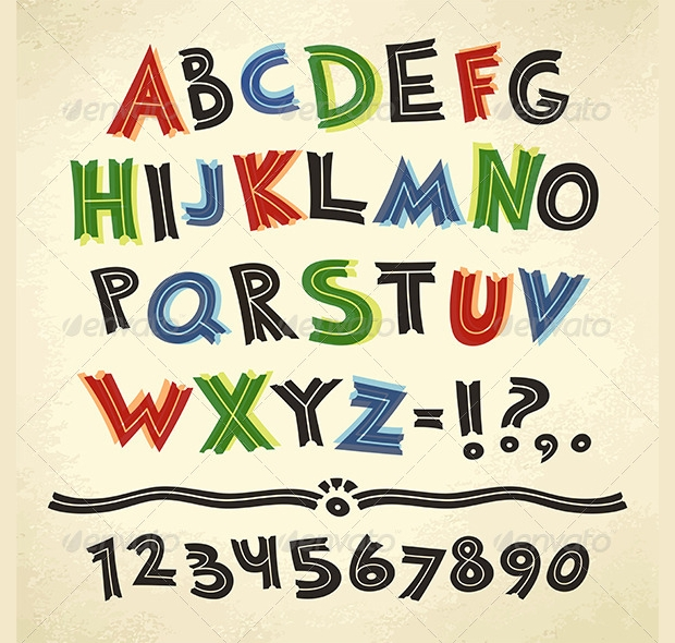 cartoon retro font