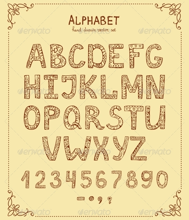 hand drawn retro font