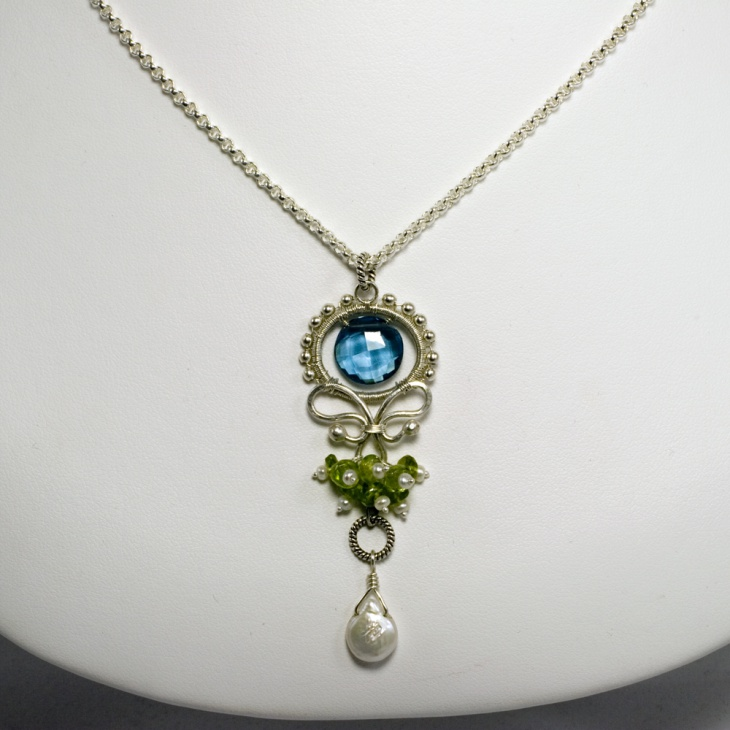 water lily pendant necklace