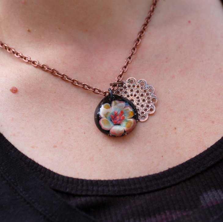 Rose Gold Lilly Pendant