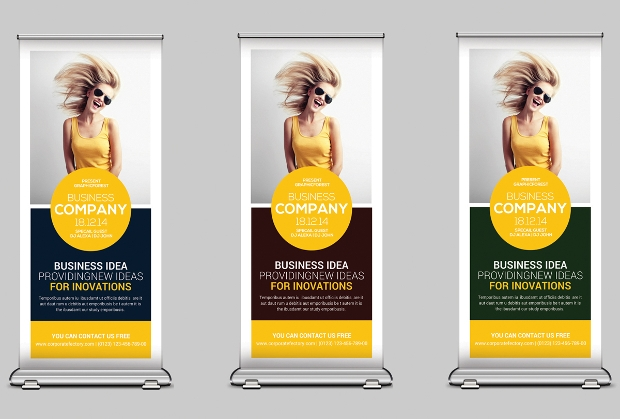 Corporate Roll up Banners Vector