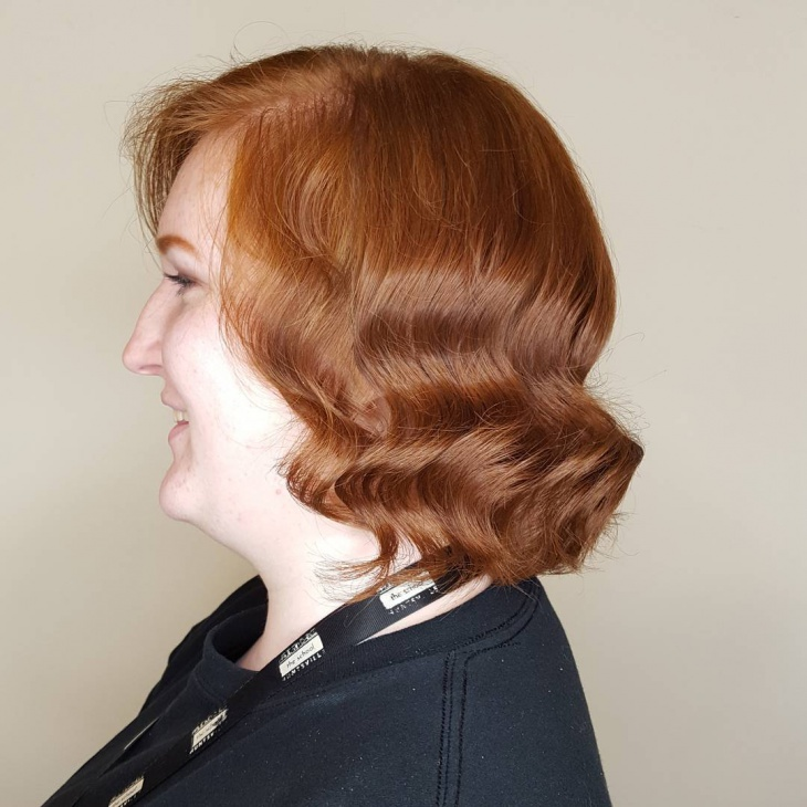 brown color finger waves hair