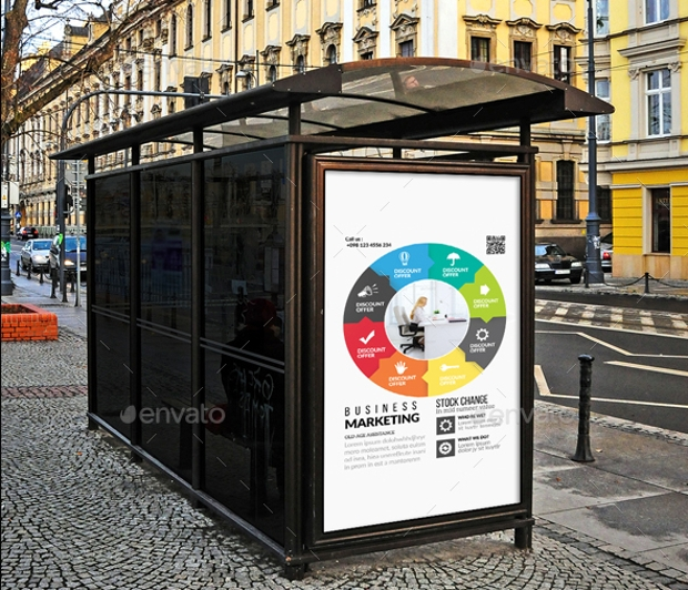 Business Promotional Bus Stop Banner