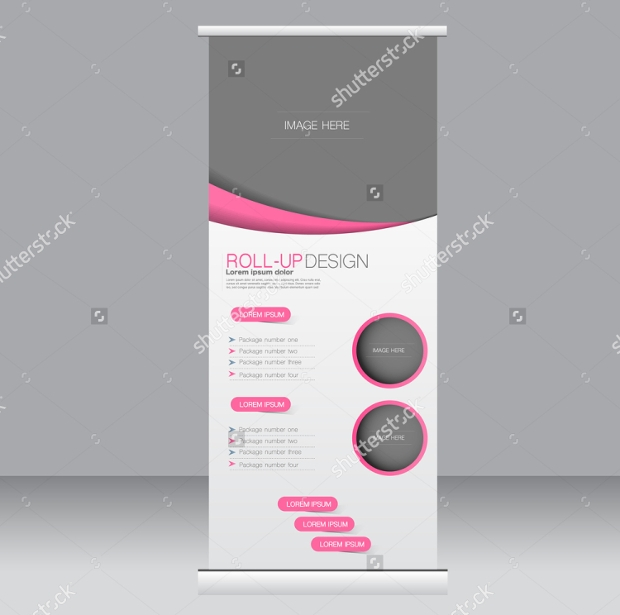 Corporate Roll Up Banner Stand Template