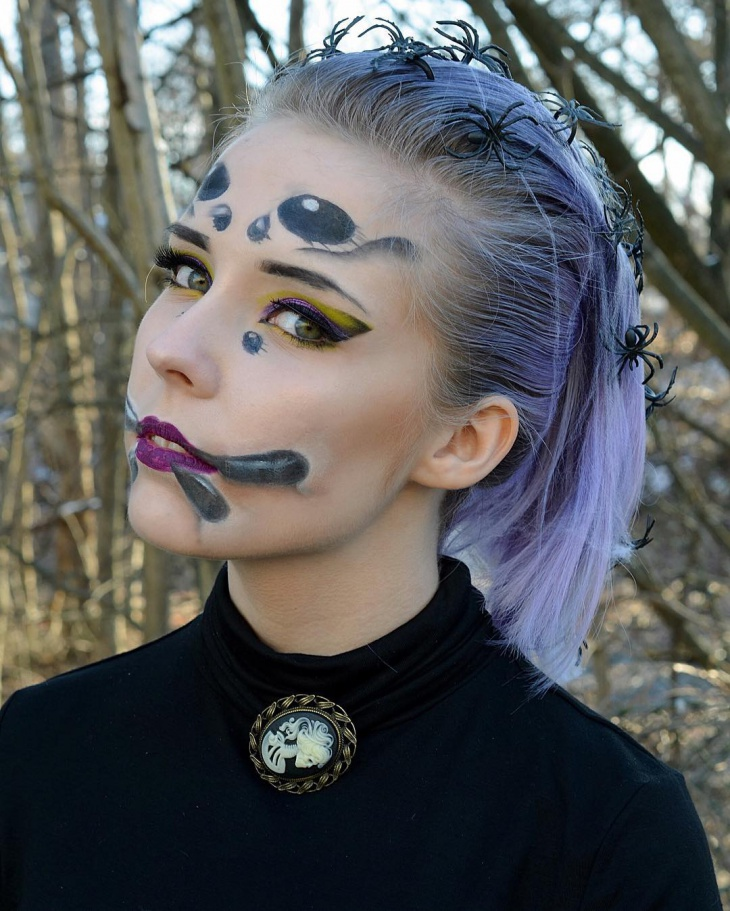 spider costume makeup