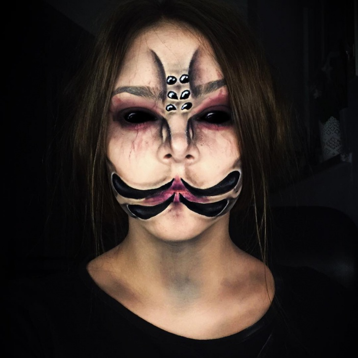 scary spider makeup look