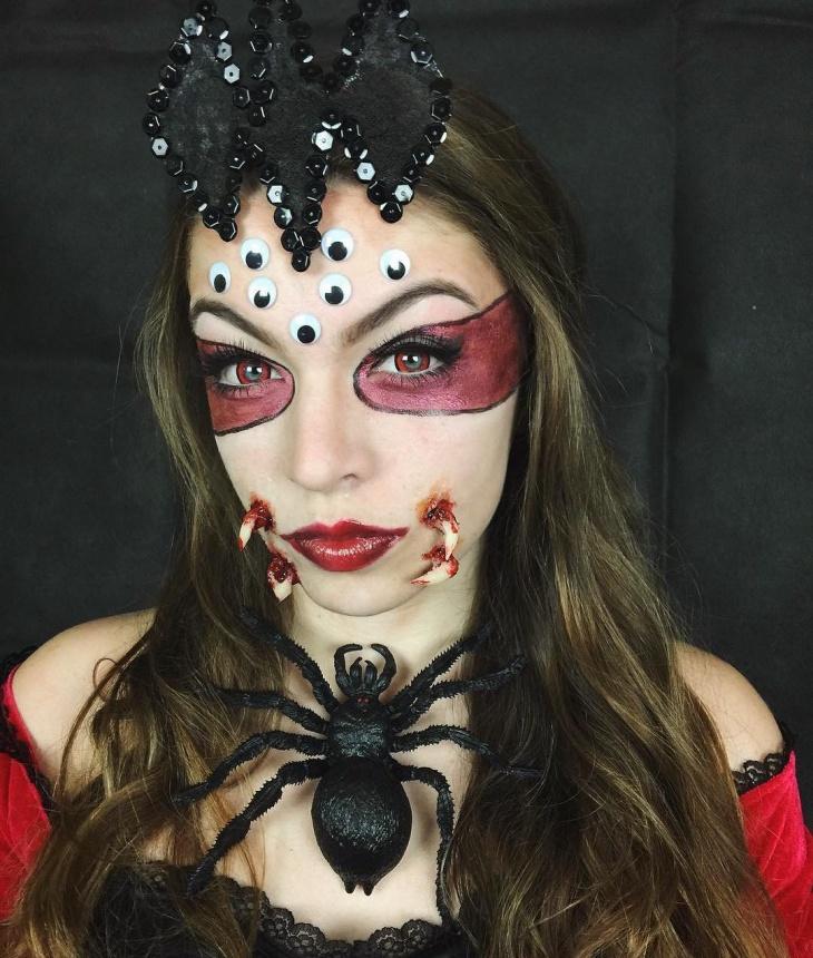 creepy spider eyes makeup
