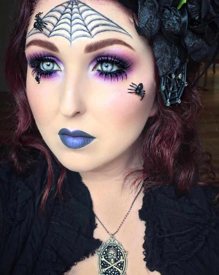 Purple Spider Makeup