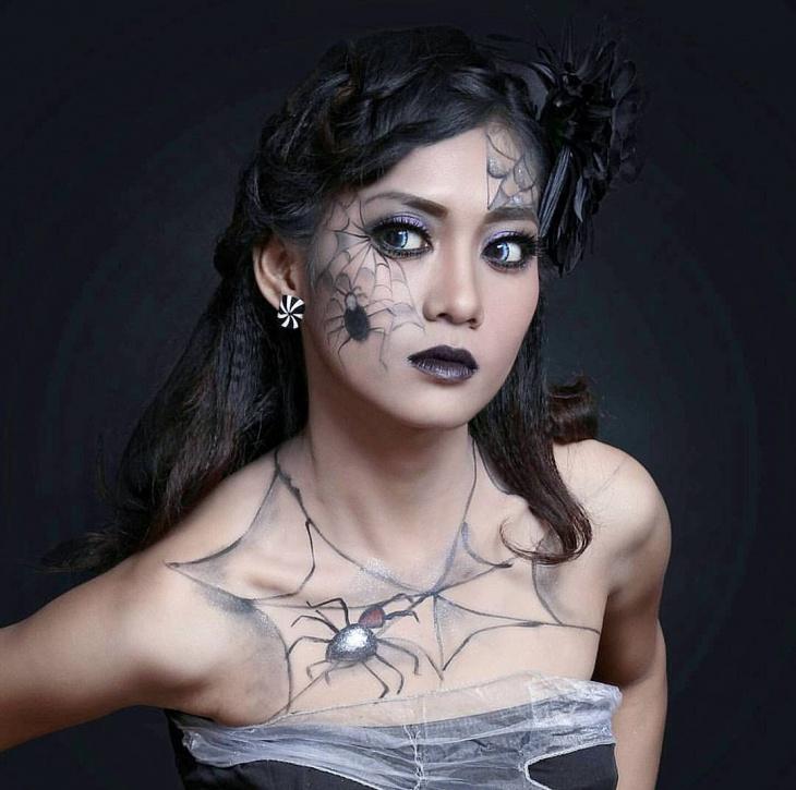 black spider makeup