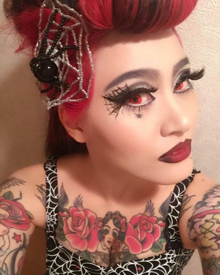 Floral Spider Makeup