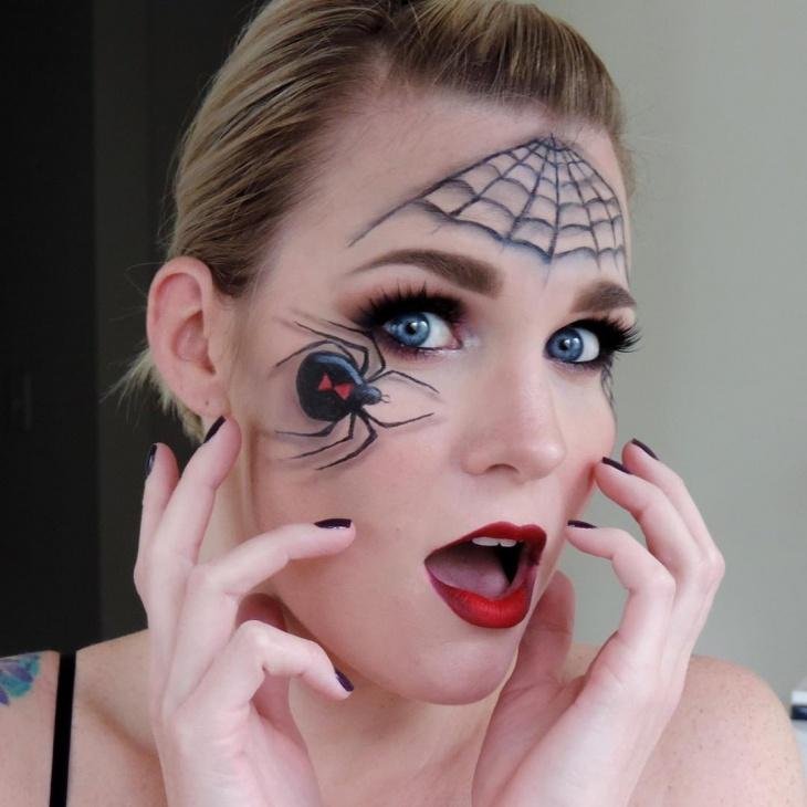 spider makeup for blue eyes