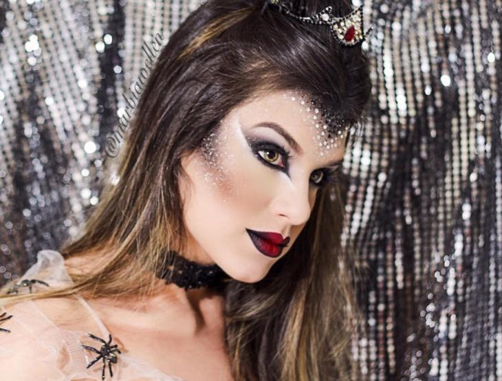 spider face makeup idea