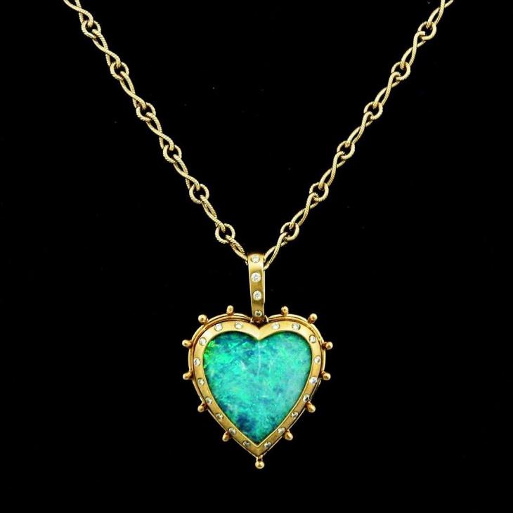 21 opal heart pendant designs ideas design trends premium psd opal heart pendant necklace aloadofball Choice Image