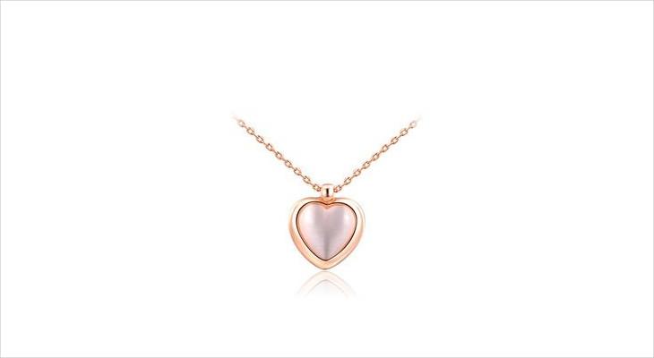 Crystal Opal Heart Pendant