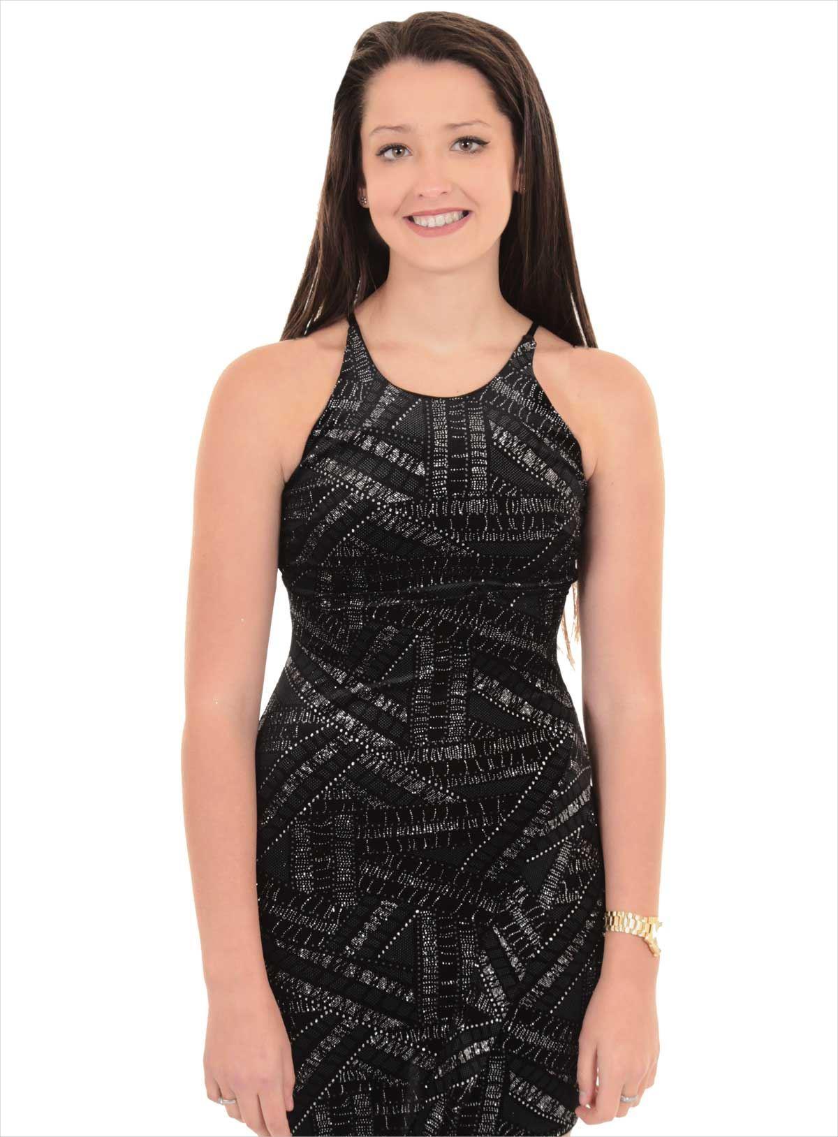 Aztec Glitter Dress