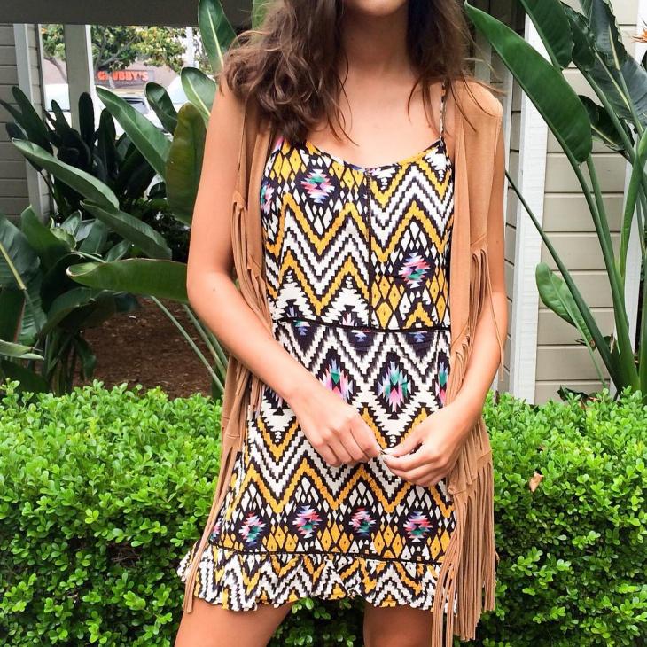 Cute Aztec Print Dress