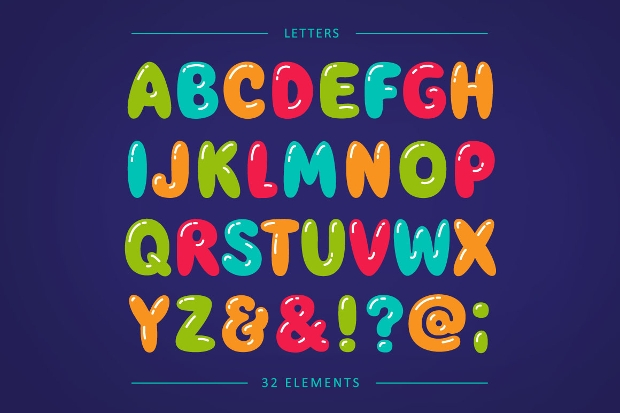 Number  In Bubble Letters