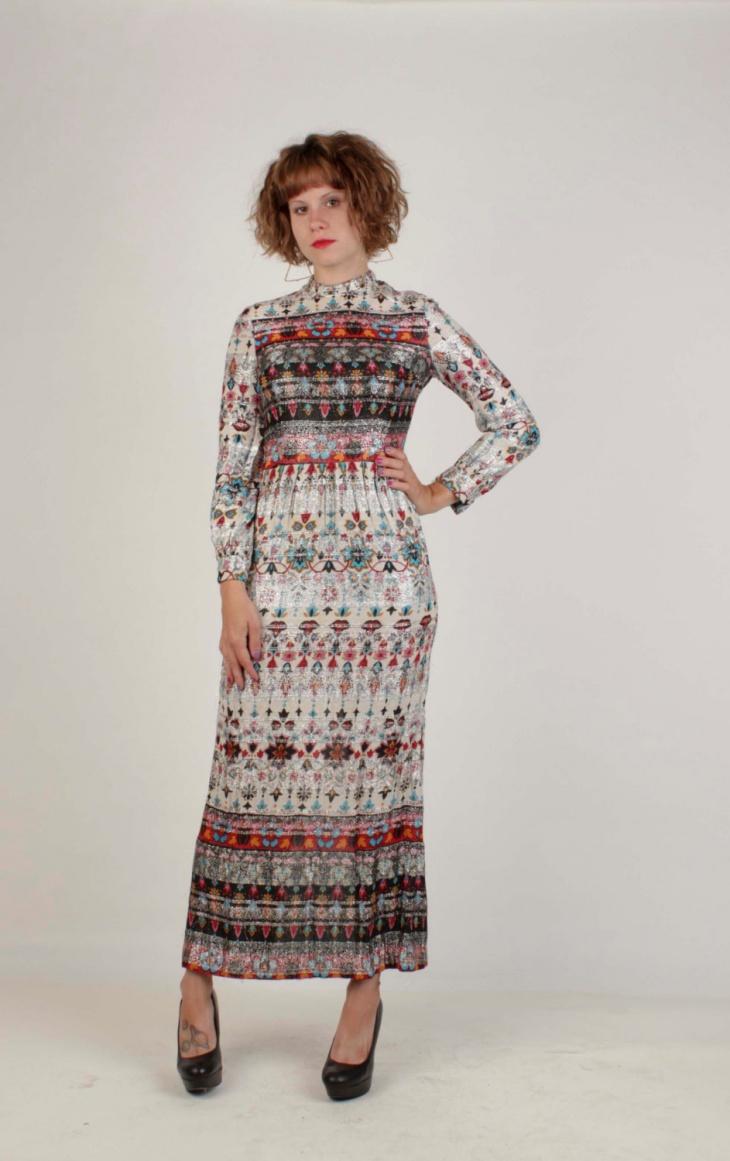 Vintage Aztec Dress