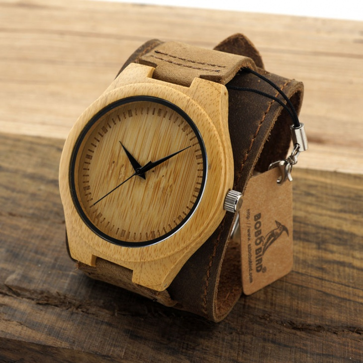 Mens Bamboo Watch Model