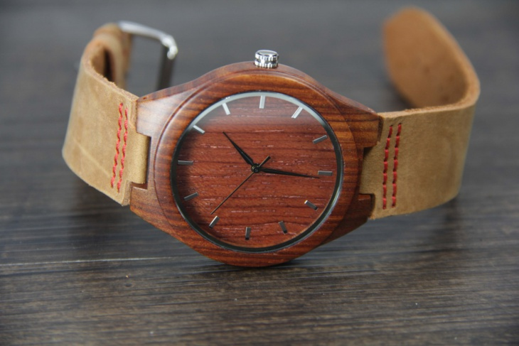 Engraved Bamboo Watch Model