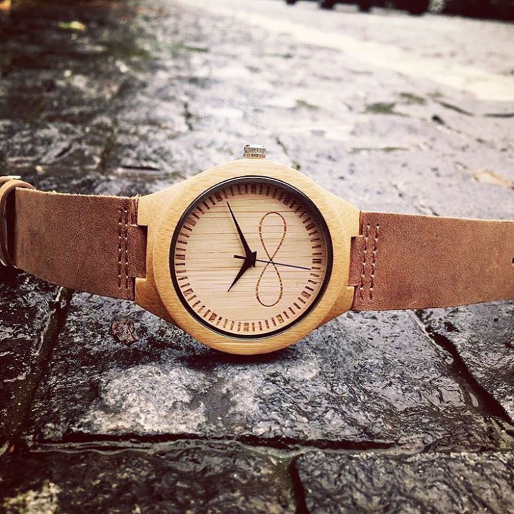 Classic Bamboo Wood Dial Watch