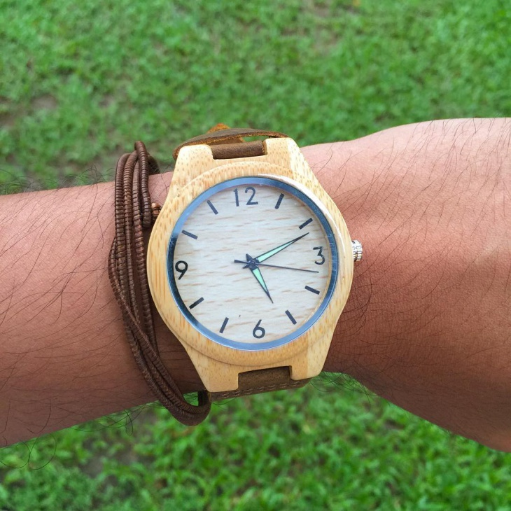 Trendy Bamboo Watch for Men