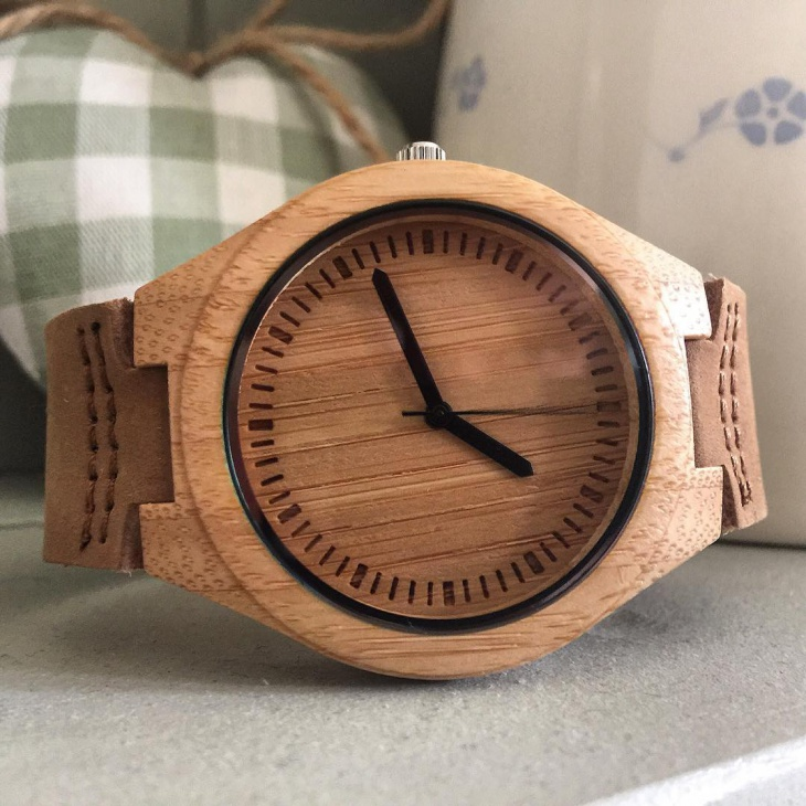 Retro Style Bamboo Watch