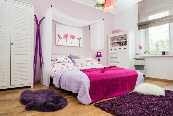 floral kids bedroom wall