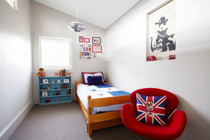 modern kids bedroom wall